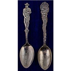 Two Deadwood Mining Spoons