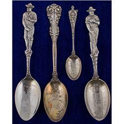 Four South Dakota Mining Spoons