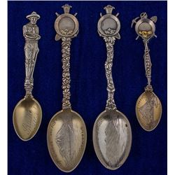 Four Seattle Mining Spoons