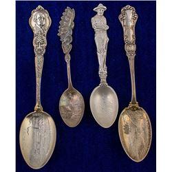 Four Washington Mining Spoons