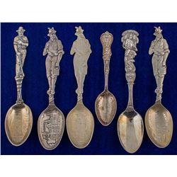 Six West Virginia & Pennsylvania Mining Spoons