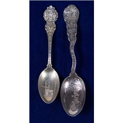 Two Wyoming Mining Spoons