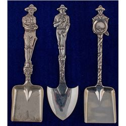 Three Large Shovel Spoons