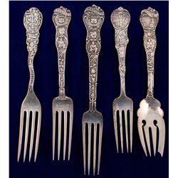 Five Sterling Mining Forks