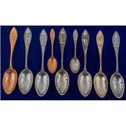 Nine Mining Spoons w/ the Same Design