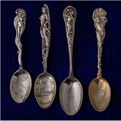 Four Mining Spoons with Nude Handles