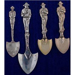 Four Shovel Mining Spoons