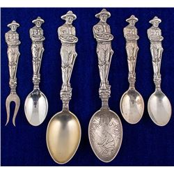 Group of Placer Mining Spoons