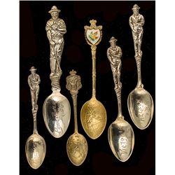 Six Canadian Mining Spoons