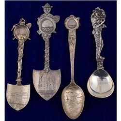 Four Canadian Mining Demitasse Spoons