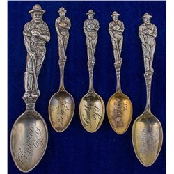Five Dawson Standing Miner Spoons