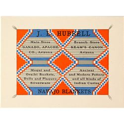 Multi-colored, Spectacular Business Card from the Well-Known Hubbell's Trading Post