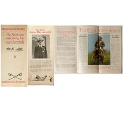 """Rare Promotional Pamphlet Promoting """"Trailing Geronimo"""""""