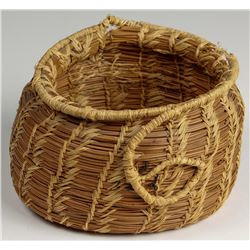 Two Tahoe Pine Needle Baskets and One Willow Basket