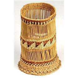 Hoopa Reed and Woven Cylinder
