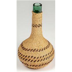 Paiute / Washoe Basket over Bottle