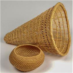 Pima Burden Basket & Miniature Washoe Basket