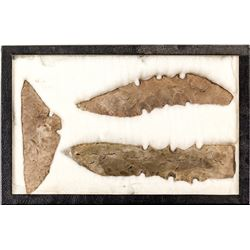 Large Native American spearheads: Lot 3