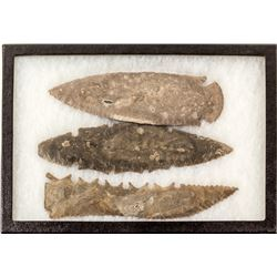 Large Native American spearheads: Lot 4