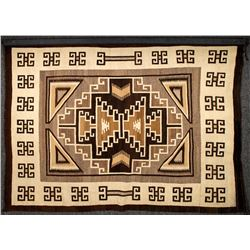 Two Gray Hills Navajo Rug