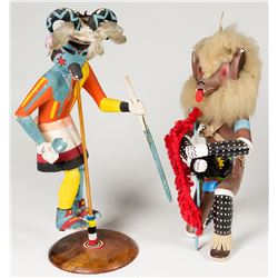 Two Navajo Kachinas (Katsinas)