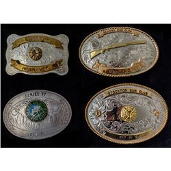 Four Central California Belt Buckles