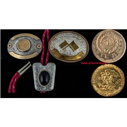 Buckle w/ Gold Peso, H.O.A. Buckle, and Bolo