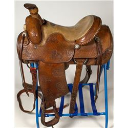 Capriola Silver-trimmed Roping Saddle