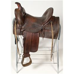 Unmarked 20th Century Square-skirt Texas-style Saddle