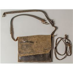 "Mid 19th Century Leather Shoulder (""possibles"") Bag"
