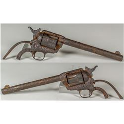 EXTREMELY RARE and HISTORIC RELIC CUSTER LITTLE BIG HORN BATTLEFIELD COLT .45 REVOLVER