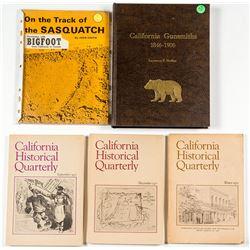 Five Books on California History incl. Gunsmiths