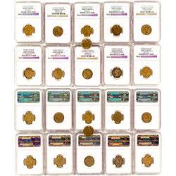Eleven Gold Rush era $5 Gaming Counters