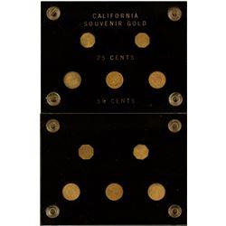 California Souvenir Gold Plated Fractional Coins