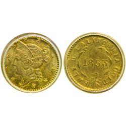 1853 Liberty Head Round $1/2