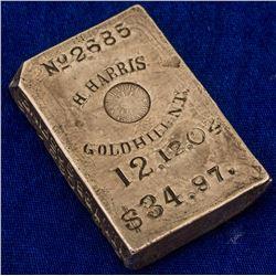 The Top #1 Nevada Silver Ingot: Harvey Harris, Gold Hill