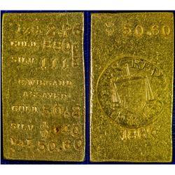 Conrad Wiegand Gold Ingot (Gold Hill, Nevada)