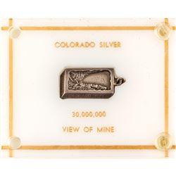 Georgetown, Colorado Commemorative Ingot Silver Pendant