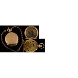 """Solid Gold 14k Gold Watch Inscribed """"Goldstein & Brodie, Leadville, Colo."""""""