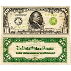 $1,000 Federal Reserve Note, Series 1928