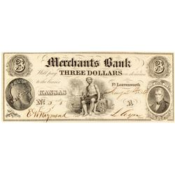 Merchants Bank $3 Note