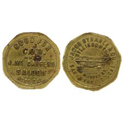 McCarger's Saloon-Strahle Token (Nord, California)