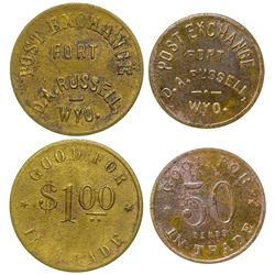 Two Ft. Russell Post Exchange Tokens (Wyoming)