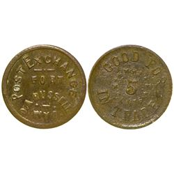 Unlisted 5 Cent Post Trader Token (Ft. Russell, Wyoming)