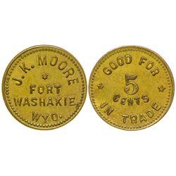 Fort Washakie 5 cent Token (Wyoming)