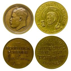 Two Boxing Medals: Joe Louis and Jack Dempsey