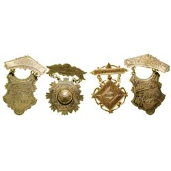 Four Prohibition Breast Badges