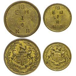 Two Uncirculated Hudson Bay Co. Tokens (Canada)