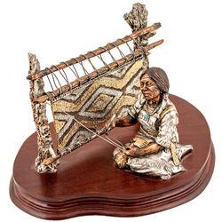 """""""Chief's Blanket"""" Bronze Statue"""