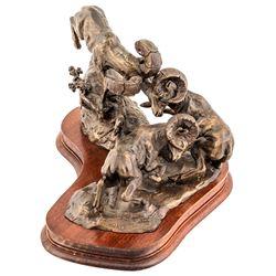 """""""Double Trouble"""" Bronze Sculpture"""